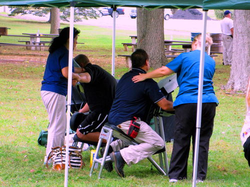 Chair Massage At The Park Event.