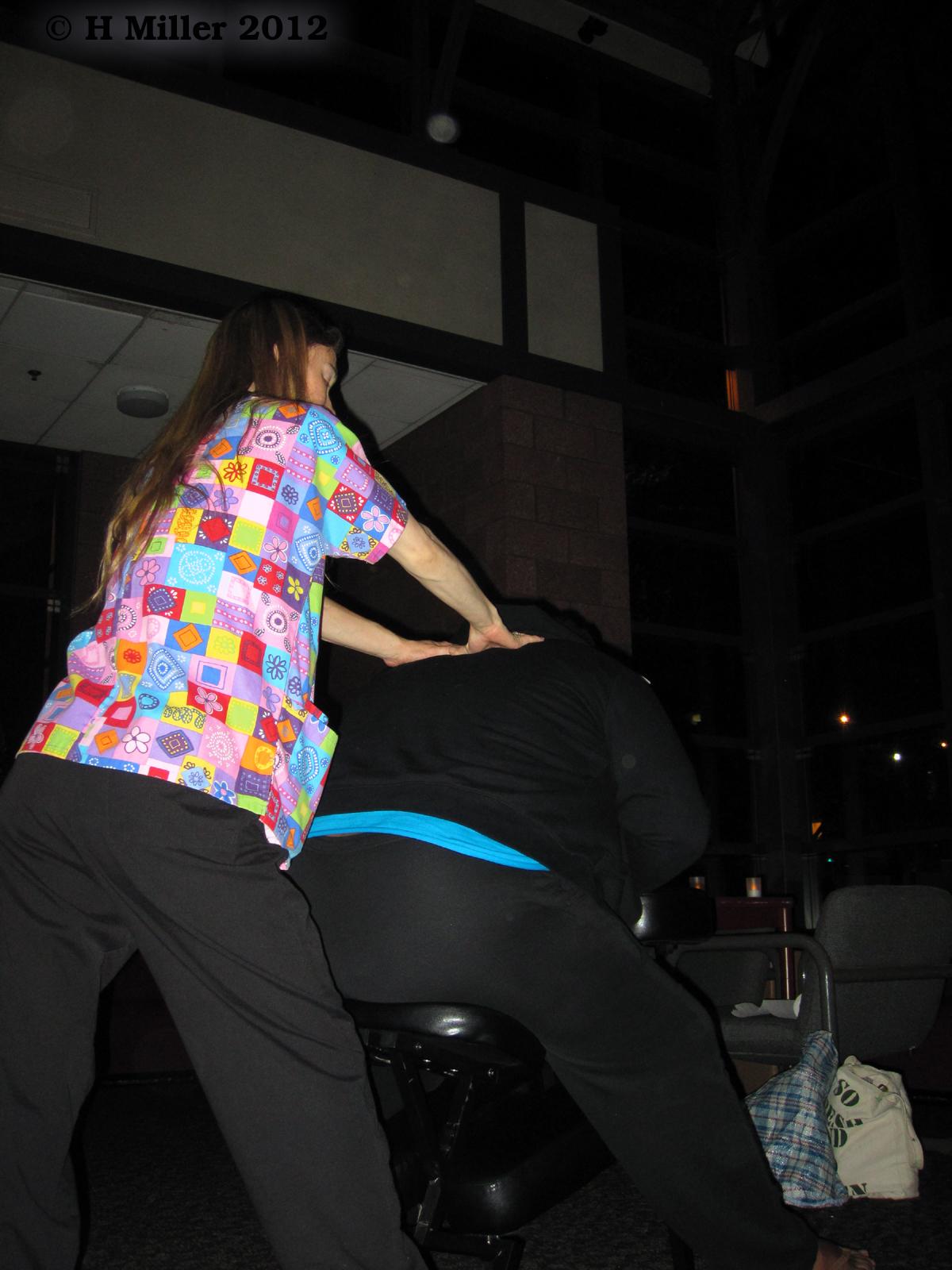 Chair Massages After Finals