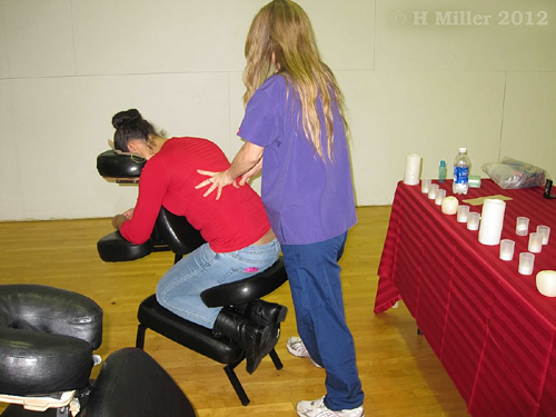 Chair Massage by Mountainside On Site Massage Therapy At Rutgers Newark, 2012